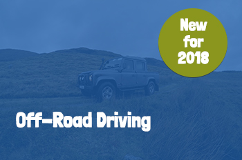 New for 2018 - Off-Road Driving